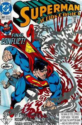Action Comics Vol. 1 (1938-2011; 2016-) (Comic Book) #667