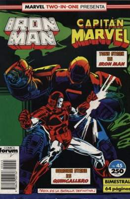 Iron Man Vol. 1 / Marvel Two-in-One: Iron Man & Capitán Marvel (1985-1991) (Grapa, 36-64 pp) #45