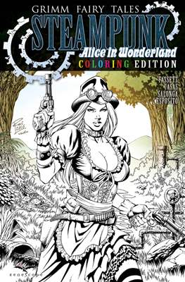 Grimm Fairy Tales Steampunk: Alice in Wonderland. Coloring Edition