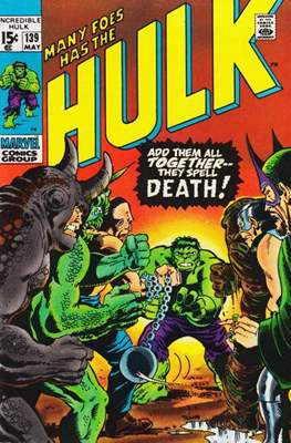 The Incredible Hulk Vol.1 (Saddle-stitched. 1962-1999) #139