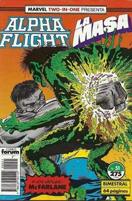 Alpha Flight Vol. 1 / Marvel Two-in-one: Alpha Flight & La Masa Vol.1 (1985-1992) (Grapa 32-64 pp) #51