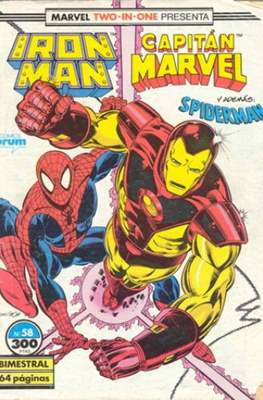 Iron Man Vol. 1 / Marvel Two-in-One: Iron Man & Capitán Marvel (1985-1991) (Grapa, 36-64 pp) #58