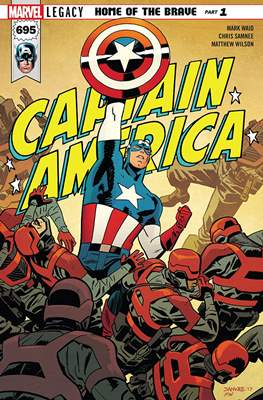 Captain America Vol. 8 (2017-2018) (Comic Book) #695