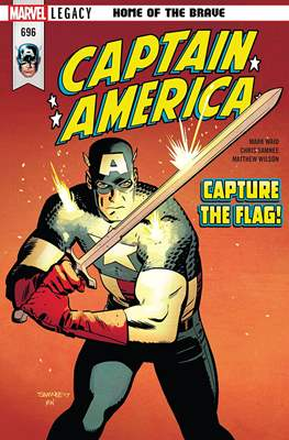 Captain America Vol. 8 (2017-2018) (Comic Book) #696