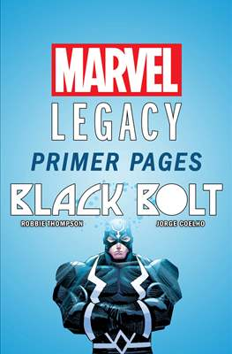 Black Bolt: Marvel Legacy Primer Pages