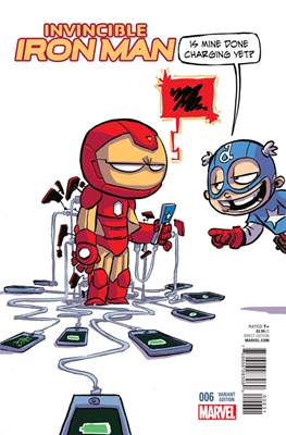 Invincible Iron Man (Vol. 2 2015-2017 Variant Covers) (Grapa) #6.3