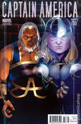 Captain America Vol. 5 (2005-2011 Variant Cover) (Comic Book) #617