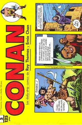 Conan. Los daily-strip comics (1989) (Grapa. 17x26 apaisado. 48 páginas. B/N.) #5