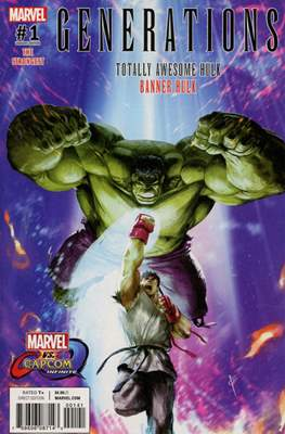 Generations - The Strongest Banner Hulk and Totally Awesome Hulk (Variant Cover) #1.2