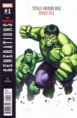 Generations - The Strongest Banner Hulk and Totally Awesome Hulk (Variant Cover)