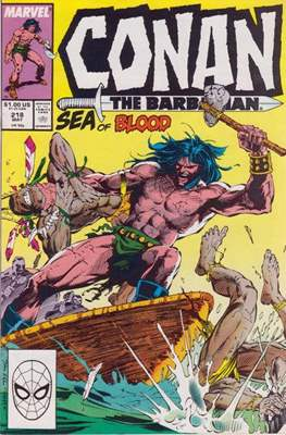 Conan The Barbarian (1970-1993) (Comic Book 32 pp) #218
