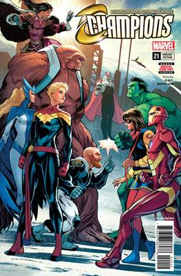 Champions Vol. 2 (2016) Variant Covers (Comic Book) #21.1