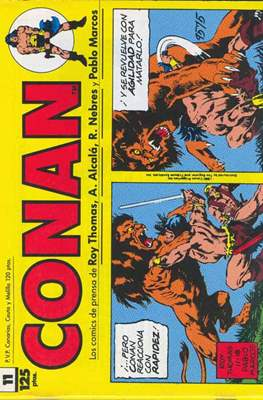 Conan. Los daily-strip comics (1989) (Grapa. 17x26 apaisado. 48 páginas. B/N.) #11
