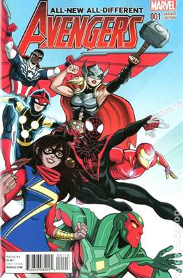 All-New All-Different Avengers (2016 Variant Covers) #1.3