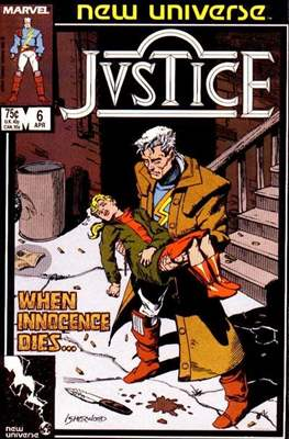 Justice. New Universe (1986) #6