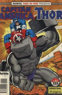 Capitán América Vol. 1 / Marvel Two-in-one: Capitán America & Thor Vol. 1 (1985-1992) (Grapa 32-64 pp) #53