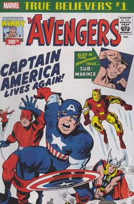 True Believers Kirby 100th Captain America Lives Again