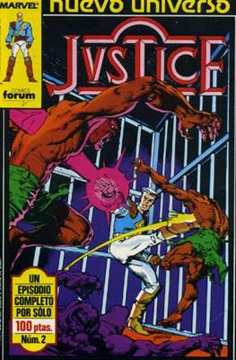 Justice (1988-1989) (Grapa. 17x26. 24 páginas. Color.) #2