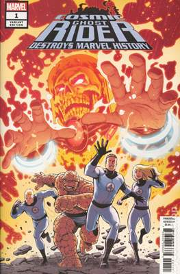 Cosmic Ghost Rider Destroys Marvel History (2019 - Variant Cover) (Comic Book) #1.2