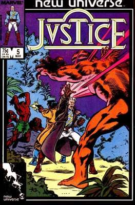 Justice. New Universe (1986) #5