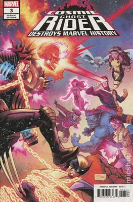 Cosmic Ghost Rider Destroys Marvel History (2019 - Variant Cover) (Comic Book) #3