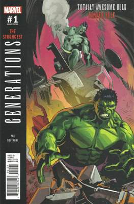 Generations - The Strongest Banner Hulk and Totally Awesome Hulk (Variant Cover) #1.5