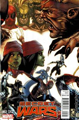 Secret Wars (2015) Variant Covers (Comic Book) #2.3