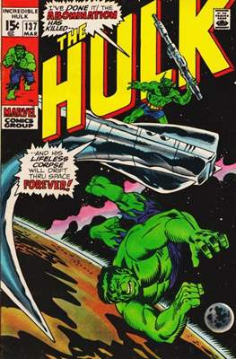 The Incredible Hulk Vol.1 (Saddle-stitched. 1962-1999) #137
