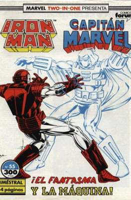 Iron Man Vol. 1 / Marvel Two-in-One: Iron Man & Capitán Marvel (1985-1991) (Grapa, 36-64 pp) #55