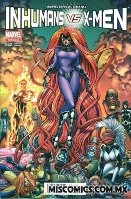 Inhumans vs. X-Men (Portada variante) (Grapa) #2.1