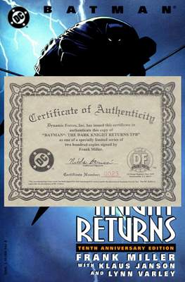 Batman: The Dark Knight Returns Signed Edition Dynamic Forces COA