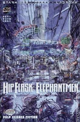 Hip Flask: Elephantmen