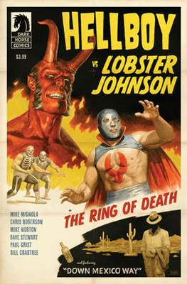 Hellboy vs. Lobster Johnson in The Ring of Death