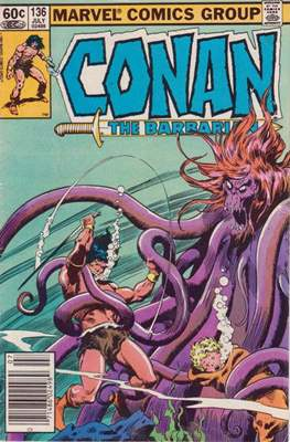Conan The Barbarian (1970-1993) (Comic Book 32 pp) #136