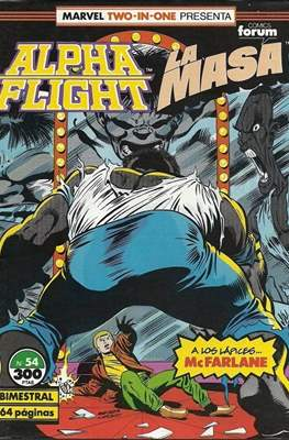 Alpha Flight Vol. 1 / Marvel Two-in-one: Alpha Flight & La Masa Vol.1 (1985-1992) (Grapa 32-64 pp) #54
