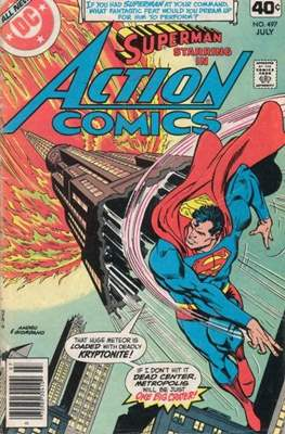 Action Comics Vol. 1 (1938-2011; 2016-) (Comic Book) #497