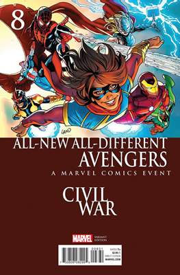 All-New All-Different Avengers (2016 Variant Covers) (Comic Book) #8