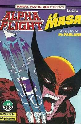 Alpha Flight Vol. 1 / Marvel Two-in-one: Alpha Flight & La Masa Vol.1 (1985-1992) (Grapa 32-64 pp) #55