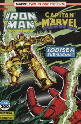 Iron Man Vol. 1 / Marvel Two-in-One: Iron Man & Capitán Marvel (1985-1991) (Grapa, 36-64 pp) #54
