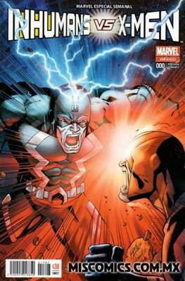 Inhumans vs. X-Men (Portada variante) (Grapa) #0.1