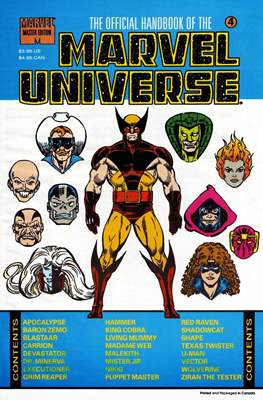 The Official Handbook of the Marvel Universe Master Edition (Softcover 48 pp) #4