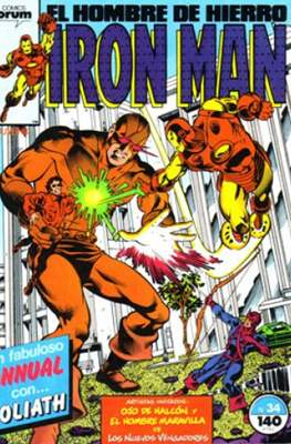 Iron Man Vol. 1 / Marvel Two-in-One: Iron Man & Capitán Marvel (1985-1991) (Grapa, 36-64 pp) #34