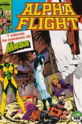 Alpha Flight vol. 1 / Marvel Two-in-one: Alpha Flight & La Masa vol.1 (1985-1992) (Grapa 32-64 pp) #25