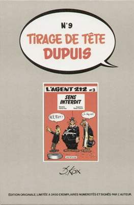 Tirage de Tête Dupuis #9