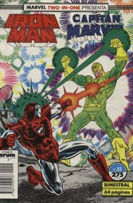 Iron Man Vol. 1 / Marvel Two-in-One: Iron Man & Capitán Marvel (1985-1991) (Grapa, 36-64 pp) #51