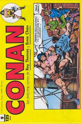 Conan. Los daily-strip comics (1989) (Grapa. 17x26 apaisado. 48 páginas. B/N.) #9