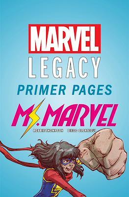 Ms. Marvel: Marvel Legacy Primer Pages