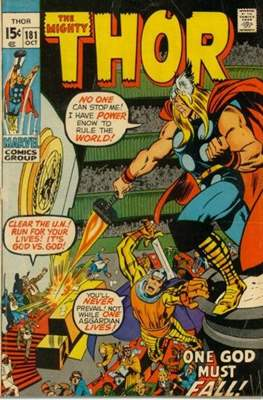 Journey into Mystery / Thor Vol 1 (Comic Book) #181