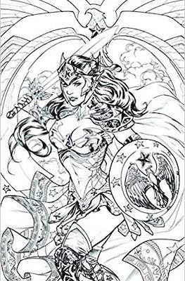 Wonder Woman #47 Portada Variante-Adult Coloring Book