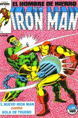 Iron Man Vol. 1 / Marvel Two-in-One: Iron Man & Capitán Marvel (1985-1991) (Grapa, 36-64 pp) #24